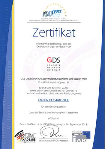 QM-Zertifizierung nach ISO 9001:2008