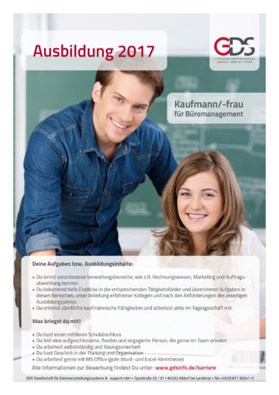 Kaufmännische Ausbildung GDS