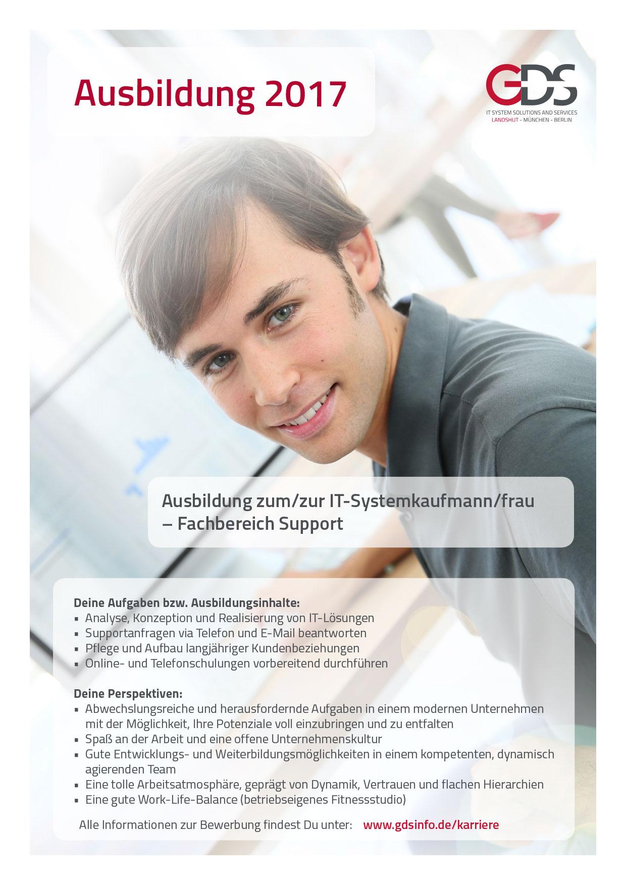 Ausbildung zum/zur IT-Systemkaufmann/frau – Fachbereich Support