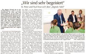 Pressemitteilung Landshuter Wochenblatt